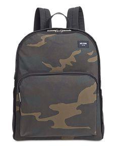 Jack Spade Men's Waxed Cotton Camo Backpack