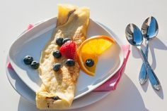 Crepe - chezENGH Pancakes, Breakfast, Ethnic Recipes, Desserts, Food, Morning Coffee, Tailgate Desserts, Crepes, Griddle Cakes