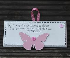 Children's Wooden Bedroom Bedtime Wall Hanging Sign by scratchycat, $13.00