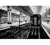 Canvas, Prints, Wall art and Photography Place: Manchester (Train Station) Effect: B&W Artist: Lindenberg Munroe A Level Photography, Train Station, Digital Art, Canvas Prints, Wall Art, Places, Artist, Photo Canvas Prints, Lugares