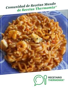 Fideua de Calamares , Gambas y Almejas por Dare. La receta de Thermomix<sup>®</sup> se encuentra en la categoría Arroces y pastas en www.recetario.es, de Thermomix<sup>®</sup> Couscous, Macaroni And Cheese, Health, Ethnic Recipes, Food, Beautiful, Recipes With Rice, One Pot Dinners, Health Foods
