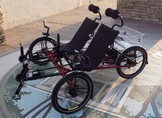 Awesome, side-by-side, recumbent hybrid 'trike' (actually quad) >> Utah Trikes - Pedal/Electric Hybrid Sociable