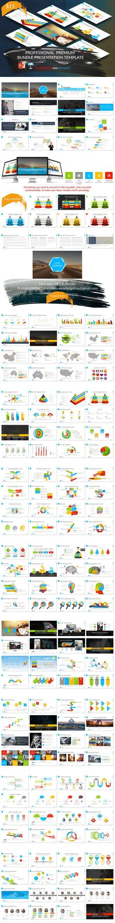 Professional Presentation Template. Business Infographic