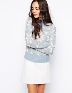 New Look Snowflake Sparkle Sweater ($45)