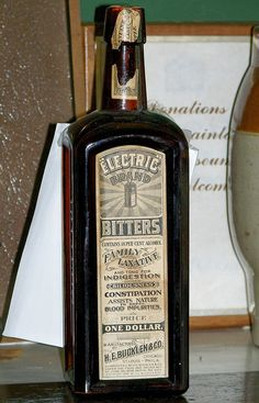 Electric Brand Bitters    Niagara Apothecary; Niagara-on-the-Lake, Ontario.