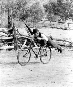 Proto-hipster Paul Newman Planking While Smoking on a Fixie