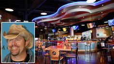 Top 20 Best Celebrity Owned Restaurants via #FriendsEat: 3) Toby Keith – I Love This Bar & Grill in Oklahoma City, Ok