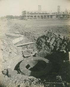 Manhole nearly completed, 1912