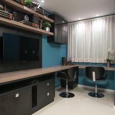 Home office com rack Preto