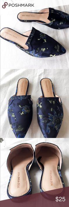 b6d71066a9 Women s Oriental Blue Mules! Size 8.5! Women s Oriental Blue Mules! Size  8.5!