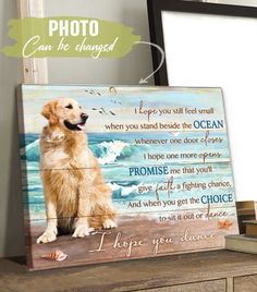 Product Poster, Ocean Home Decor, Ocean House, Canvas Poster, Dog Photos, Custom Photo, Canvas Material, 5 Years