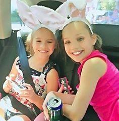 Mackenzie and Maddie Ziegler on Easter