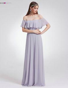 2018 Nové modré Elegantní družičky šaty Dlouhý Vysoký Split někdy Značka  EP07171 Chiffon šaty pro svatební Party feestjurken 0081ee4e8d3