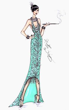 The Gatsby Collection by Hayden Williams (Fashion Illustration) Hayden Williams, Illustration Mode, Fashion Illustration Sketches, Fashion Sketches, The Great Gatsby, Fashion Art, Fashion Design, Fashion Moda, Costume Design
