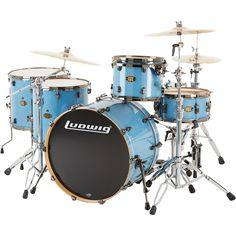 Are you looking for a new drum set? You can find a selection of LUDWIG DRUMS including this LUDWIG EPIC PRO BEAT 5-PIECE SHELL PACK IN CELESTIAL BLUE (free shipping) in the store at http://jsmartmusicworld.com
