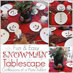 CONFESSIONS OF A PLATE ADDICT: Fun and Easy Snowman Tablescape