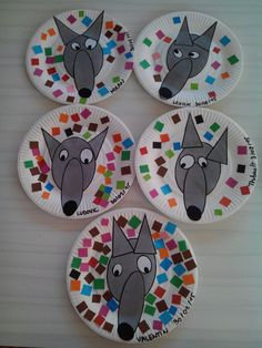 Projects For Kids, Diy For Kids, Crafts For Kids, Book Crafts, Diy And Crafts, Wolf Craft, Fairy Tale Crafts, Fairy Tale Activities, Farm Animal Crafts