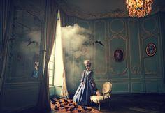 LEGERDEMAIN, Surreal Fashion / Photographer: Miss Aniela / Model: Hélène Lecomte D / Hairstylist: Virginie Barrault-Guignard / Make-up: Jennifer Guernier. Shot in Paris, fused with aspects from Pacific Ocean
