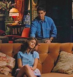 I love this part! Just by letting her use his hand as a pillow is a sign that he'd do anything for her. So sweet. Like, the time when Ross had a TV appearance (something to do with dinosaurs) and he didn't go to it because Rachel had to go to the doctor ('cause she had hurt herself when Monica crashed into her on roller skates). This is love.
