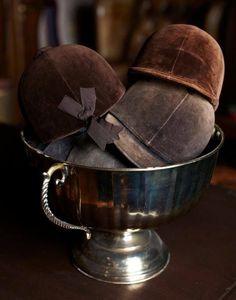 riding hats at English Manor