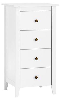 Byrå AULUM 4 lådor vit | JYSK