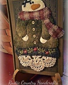 Heres my girl all finished and mounted on an olde book. 2019 Heres my girl all finished and mounted on an olde book. The post Heres my girl all finished and mounted on an olde book. 2019 appeared first on Wool Diy. Motifs Applique Laine, Wool Applique Patterns, Felt Applique, Applique Ideas, Felted Wool Crafts, Felt Crafts, Fabric Crafts, Christmas Sewing, Felt Christmas