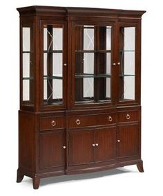 Laurel Heights Transitional Dark Truffle China Cabinets
