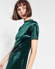 ZARA - TRF - VELVET DRESS