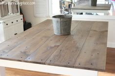 Our own version of Ana White's Rustic Dining Room Table. Farmhouse Dining Room Table, Diy Dining Table, Kitchen Tables, Kitchen Ideas, New Home Wishes, Small Dining, Home Furniture, Furniture Refinishing, Home Remodeling