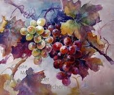 This is a redo of the first grapes I put in Cherryl's Administrator Grape Challenge. Added more color and value.and a bit of 'white' Grape Painting, Oil Painting App, Fruit Painting, China Painting, Watercolour Painting, Watercolor Fruit, Watercolor Flowers, Botanical Illustration, Watercolor Illustration