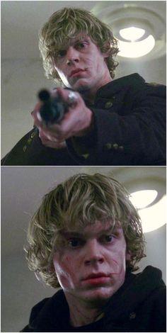 Beautifully Insane! Fantastic new screen shots of Evan as Tate Langdon in AHS Murder House. Follow rickysturn/evan-peters