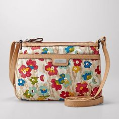Relic Floral Canvas Cross-Body Handbag