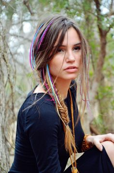 Long Box Braids: 67 Hairstyles To Upgrade Your Box Braids - Hairstyles Trends Box Braids Hairstyles, Unique Braided Hairstyles, Feathered Hairstyles, Formal Hairstyles, Hairstyles Haircuts, Feather Extensions, Human Hair Extensions, Estilo Cowgirl, Hair Places
