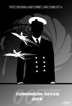 James Bond 007 - Poster Special Edition - Tomorrow never dies James Bond Movie Posters, Film Posters, Sean Connery, Estilo James Bond, James Bond Party, Service Secret, Bond Series, Pierce Brosnan, Cinema