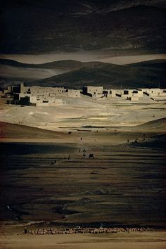 Harry Gruyaert  MOROCCO. Region of the High Atlas. Imilchil. 1986.