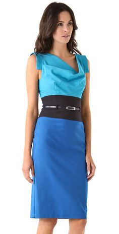 Black Halo Colorblock Jackie O Dress