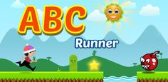 A short run and jump alphabet free game for kids for Android Free Games For Kids, Brain Games, Nintendo 64, Alphabet, Tiles, Android, Play, Logos, Store