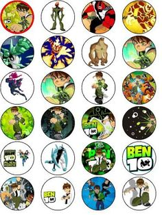 BEN 10 24 EDIBLE WAFER - RICE PAPER CAKE TOPPERS EACH DESIGN IS 40mm IN DIAMETER , http://www.amazon.co.uk/dp/B00FV4X4BW/ref=cm_sw_r_pi_dp_VgLDsb1ARFXWS