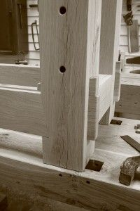 Dovetailed and Wedged Tenon