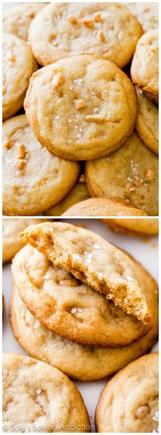 Super chewy Salted Vanilla Toffee Cookies -- THESE WERE DEVOURED!