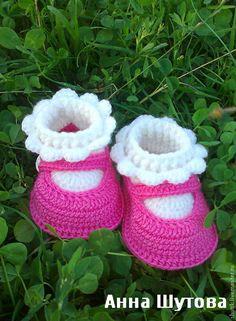 """Купить Пинетки """"туфельки"""" - дети, вязаные пинетки, туфельки, пинетки для новорожденных, для детей, 25% шерсть"""