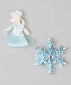 Look what I found on #zulily! Picki Nicki Hair Bowtique Blue Snow Queen & Snowflake Clip Set by Picki Nicki Hair Bowtique #zulilyfinds