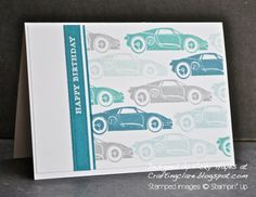 Stampin' Up ideas and supplies from Vicky at Crafting Clare's Paper Moments: Rev up the Fun for a boy