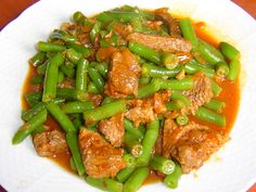 Kung Pao Chicken, Green Beans, Good Food, Treats, Vegetables, Healthy, Ethnic Recipes, Fitness, Sweet Like Candy