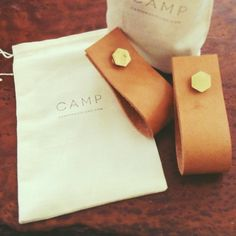 LEATHER + BRASS HEXAGON PULLS (now available at the CAMP shop)
