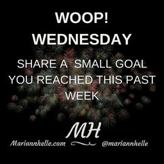 """In the Networking Success Tips FB-community we are celebrating """"WOOP! WEDNESDAY""""  Want to join us?   @mariannhelle"""
