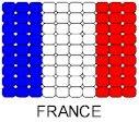 France Flag Pin Pattern