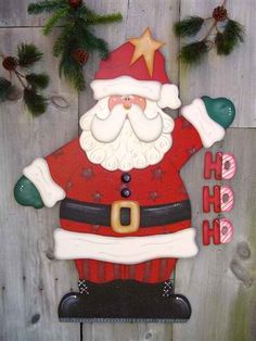 Christmas Santa Wood Craft