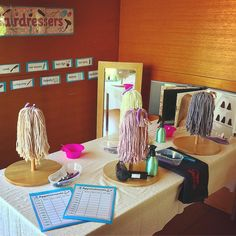 Our hair salon dramatic play is ready for business 😝🧖🏼‍♀️💇🏻‍♀️💇🏻‍♂️ Activities For Girls, Games For Toddlers, Kindergarten Activities, Preschool, Prop Box, Activity Room, Dramatic Play Centers, Play Centre, Creative Play