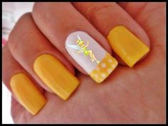 Tinker Bell nails
